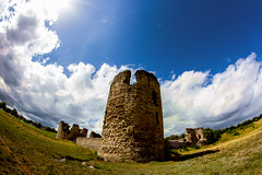 Flint Castle (18mm & Other Stuff) Tags: castle canon for fisheye gb while around 8mm attached fortress flint flintshire 600d samyang historyuk