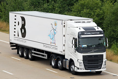 Volvo FH new look YE13 GFX - Reed Boardall (gylesnikki) Tags: new white truck kent artic m20 2013 reedboardall