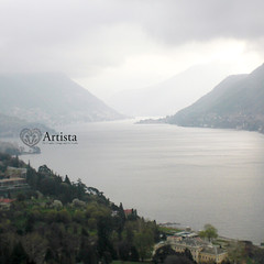 Italy, Lake Como 2010 (Artistakw) Tags: sky italy lake como mountains nature fog clouds photographer shot picture photograph hazy