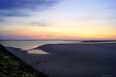 sunset (MBM phARTographie) Tags: sunset sea mer beach dunes sony sigma northsea alpha glise plage phare manche merdunord couchdesoleil a77 digue mbm mbmphartographie