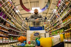 Trollied (Nic Taylor Photography) Tags: food shopping trolley sony tesco supermarket fisheye shoppingtrolley 30faves samyang 10faves 20faves 40faves 8mmfisheye sonyalpha club16 samyangfisheye sonya65 sonyslta65 samyang8mmf35mcfisheye insideashoppingtrolley