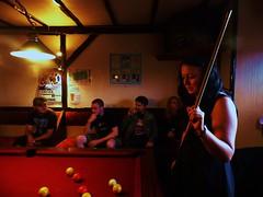 Colleen Deciding Her Next Shot (danielrobbins) Tags: reflection pool bar evening pub angus candid colleen drinking forfar ploughinn tensity