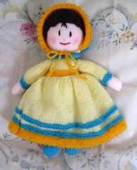 Awake (maisonburke) Tags: toys stuffed knitting dolls crafts knitted stuffedtoys handknitting prettycolours handemade knitteddolls hushabye jeangreenhowe