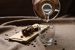 Coffee & Brownie with Dried Fruits and Hazelnuts