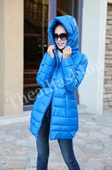 เสื้อแจ็คเก็ตยาวพร้อมหมวกฮู้ดบุภายในด้วยขนเป็ดเกรดเออบอุ่นเนื้อผ้าเงางามกันฝนกันหิมะได้ดี-CJ-0001