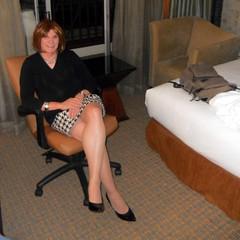 Mini Sitting (krislagreen) Tags: tv pumps highheels legs cd skirt hose tgirl transvestite heels miniskirt crossdresser crossdress tg cardi crossedlegs patent xdresser