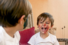AHappyMoment. (AntonioArcos aka fotonstudio) Tags: boys face childhood painted lifestyle happiness games