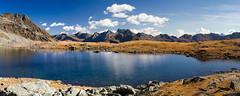 Alpine lake (Walter Quirtmair) Tags: blue autumn sky panorama lake fall water clouds austria rocks alpine tyrol apls