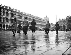 St Mark's Square (Lydie's) Tags: venice people italy basilica rainy sanmarco stmarkssquare
