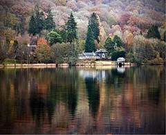 autumn fading into winter (Dove*) Tags: autumn trees lake reflections lakedistrict