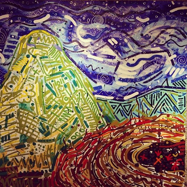 """Elementos de la Naturaleza"" de Gianfranco Piccone #arte #art #arteenlima #artinlima #artista #artist #artwork #pintura #painting"