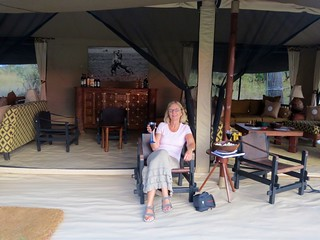 Relaxing at our Thomson Safaris Nyumba Camp