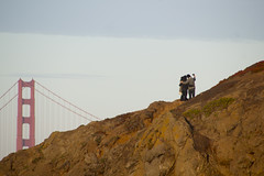 Please Stay on the Trail (David Gallagher) Tags: sanfrancisco hiking tourists goldengatebridge goldengatenationalrecreationarea