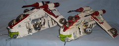 Lego Star Wars Gunships (Darth Ray) Tags: 2002 star republic lego stickers bad wars gunship 75021 7163 2013 gunships
