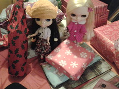 The girls think the presents are for them.
