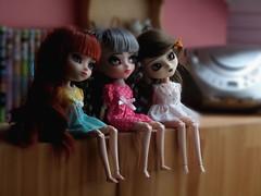 Family [cute ver.] (Ca-chou) Tags: blue cute grey gris doll dress auburn full wig pullip custom fc chill brune custo bleus sbh grise obitsu 27cm acryliques roussse