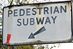UK Traffic Sign: 'Pedestrian Subway' (EZTD) Tags: england signs london photography foto photos photographs photograph fotos signage londres lin londra w1 trafficsigns parklane oldsign londonist fotograaf londonengland londonsigns capitalcity londonistas linphotos thisislondon preworboys pedestriansubway mylondon imagesoflondon londonista eztd eztdphotography photograaf pedestriansubwaysign eztdgroup londonimagenetwork pictoriallondon londonmylondon