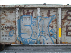 Sag TA (Railroad Rat) Tags: railroad b winter canada art cn train graffiti cp freight sag trackside markal moniker benching