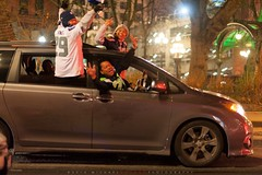 Seattle Flips Out! Pioneer Square after Seahawks beat 49'ers & advance to superbowl! (Michael Holden) Tags: seattle street party sports field square michael football downtown taz playoffs seahawks pioneer holden 49rs championchip michaelholdencom centurylink