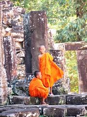 Cambodia - Buddhist students at Angkor Wat 02