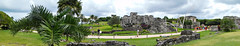 Ruins of Tulum (Hey Virginia - Photography) Tags: road trip viaje sky people holiday green history clouds landscape mexico ruins rocks tour culture tulum palmeras tourist panoramic personas palmtrees ruinas panoramica archaeological vacaciones historia cultura rocas excursion turistas sightseen arqueolgico