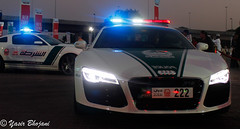 Dubai Police Audi R8 & Roush Mustang Combo (Yasir_Bhojani) Tags: 6 ford chevrolet one mercedes benz al dubai nissan martin g c ss uae police continental ferrari 63 camaro m sl mc civil mclaren bmw dodge gran 12 mustang gt audi bugatti corvette lamborghini 77 defense coupe ff defence charger bentley aston v10 mp4 sls laren amg veyron brabus gtr r8 roush  shurta aventador