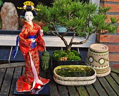 A helping hand. (Athanassia) Tags: japan japanese doll maiko geisha figure kimono figurine gofun