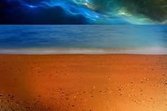 Otherworldly. The Ultimate Vacation. (DigitalCanvas72) Tags: beach stars outdoors sand space vividcolor outterspace alienplanet alienworld nikond90 nikon1685mmvrdx