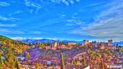 Alhambra de Granada desde San Nicolas (ASpepeguti) Tags: olympus granada albaicin zd1454mm e620 aspepeguti noviembre2011 desdeelmiradordesannicolas photomatxpro42