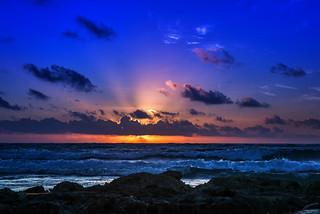 Sunrise  on Akumal Beach, Mexico