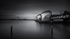 Open the flood gates (vulture labs) Tags: uk longexposure light england urban blackandwhite bw white black building london art water monochrome thames architecture modern clouds river photography photo nikon long exposure industrial cityscape fineart wide monotone monochromatic panoramic filter crop barrier 169 f28 holder cityoflondon ratio lightroom londonskyline ndfilter daytimelongexposure neutraldensityfilter bwlondon 10stop d700 bwlongexposure nikond700 1424mm vulturelabs prostop 16stops silvereffex2 formatthitech lucroit irnd jtsignatureedition