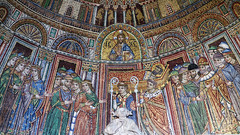 Reception of St. Mark's body into San Marco, 13th century, mosaic, Porta, Sant'Alipio, San Marco façade, Venice