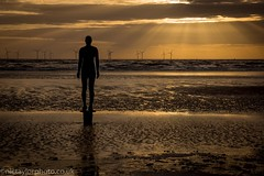 Sunset at Antony Gormley's Another Place (Nic Taylor Photography) Tags: sunset beach zeiss sony crosby carlzeiss anotherplace crosbybeach sonyalpha antonygormleyanotherplace variosonnart282470 zeiss2470f28 sonya77 sonyslta77