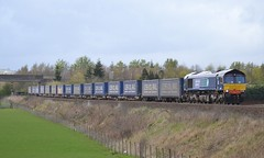 66305 4D47 Inverness - Mossend 09-04-2014 (alasdair37114) Tags: stirling tesco bannockburn class66 intermodal drs stobart 66305 4d47