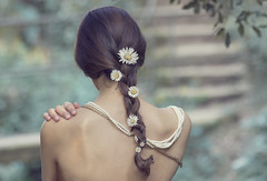 It's time to magic (Ariadna Oliver) Tags: flowers blue portrait girl beauty forest self canon nude alone skin magic elegant protection 600d
