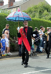 Red Rose Brass Band (DaveWilcock) Tags: red rose festival band grand childrens 37 umbrellas marshal brass garstang 114picturesin2014
