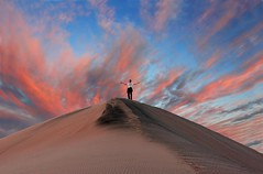 King of the Hill (Lumenoid) Tags: california sunset deathvalley sanddune flickrdiamond truthandillusion