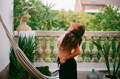 (saraseaside) Tags: barcelona life woman film nipples dancing balcony free vida canonf1