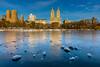 Central Park Reservoir (Amar Raavi) Tags: centralpark newyorkcity nyc newyork cityscape reservoir water frozen ice buildings skyline upperwestside uws usa outdoors winter reflections manhattan jacquelinekennedyonassisreservoir