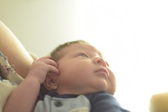 My nephew. #flawless (OscarCortesCh) Tags: flawless newborn baby sunlight nikkor 50mm f14d sooc portrait