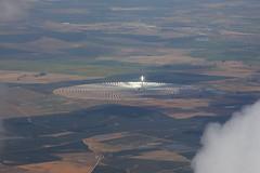 Espagne : survol Gemasolar (Maillekeule) Tags: vol flight window hublot spain espana espagne transavia gemasolar