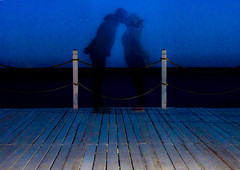 central kiss (PDKImages) Tags: shadows ghosts love kiss beauty not there story looking memories waiting searching disappeared disappearing firstkiss lastkiss silhouettes hooded wishing monochrome sea coast waves blues blue lost palomarenaissance sky turkey