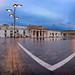 Panorama of Saint George Square on the Rainy Morning, Valletta, Malta