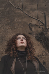Spirit portrait (Viola Buzzi) Tags: cervo deer invisible wall girl singer portrait umbria soul redhair flickr medieval cerf sorianonelcimino winter branch illustration relationalart
