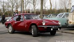 Triumph GT6 1973 (XBXG) Tags: bq772ms triumph gt6 1973 triumphgt6 coupé coupe red rood rouge 30ème salon des belles champenoises époque reims marne 51 grand est grandest champagne ardennes france frankrijk vintage old classic british car auto automobile voiture ancienne anglaise brits uk vehicle outdoor