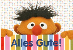 Postcrossing DE-6028063 (booboo_babies) Tags: sesamestreet german germany ernie television childrenstelevisionprogram forchildren cute postcrossing