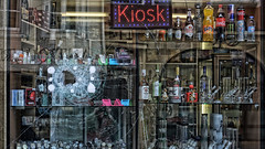 Kiosk theory (Parchman Kid (Jerry)) Tags: butterfly effect parchmankid sony a6000 chaos theory small drastic change bong bongs bottles liquor beer cigarettes lotto kiosk watch watches time hookamonky