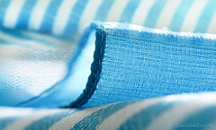 Textures and stripes (Elisafox22 slowly beating the Shingles!) Tags: elisafox22 sony ilca77m2 100mmf28 macro macrolens telemacro hmm macromondays cloth scarf striped aquamarine clothtextile textile texture textures stitches stitch cotton patterns elisaliddell©2017
