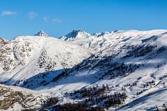 La Meije, Le Rateau et le Pic de la Grave, au dessus d'Auris. (mzagerp) Tags: montagne mountain alpes france isère savoie muzelle pic grave meije rateau snow neige ski snowboard pistes slope