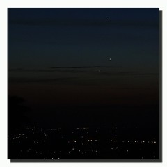 #Mercury, #Venus & #Jupiter as seen over #LoudonTn... #Space #Astronomy #Stargazing #Planets #Night #Sky #T2i #WallandTn (his 2.0) Tags: square squareformat normal iphoneography instagramapp uploaded:by=instagram
